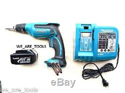 Makita 18V LXSF01 Cordless Drywall Drill, (1) BL1830 Battery, DC18RA Charger