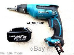 Makita 18V LXSF01 Cordless Drywall Drill Screwdriver, (1) BL1830 Battery 18 Volt