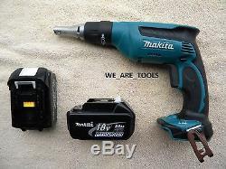 Makita 18V LXSF01 Cordless Drywall Drill Screwdriver, 2 BL1830 Batteries 18 Volt