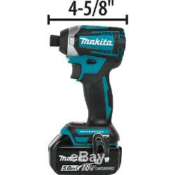 Makita 18V LXT 5.0Ah Brushless Cordless Impact Driver & Driver Drill Combo Kit
