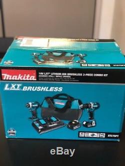 Makita 18V LXT 5.0Ah Cordless 2Pc Hammer Drill & Impact Driver Kit XT275PT