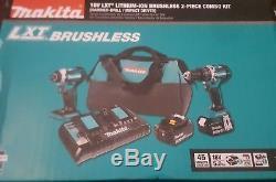 Makita 18V LXT Brushless Cordless Impact Driver & Driver Drill Combo Kit XT275PT