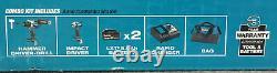 Makita 18V LXT Hammer Drill/Driver & Impact Driver Combo Kit XT288T BRAND NEW