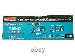 Makita 18V LXT Hammer Drill/Driver & Impact Driver Combo Kit XT288T NEW OPEN BOX