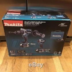 Makita 18V LXT Hammer Drill/Impact Driver Kit (5Ah) XT268T 110V 220V Charger NEW