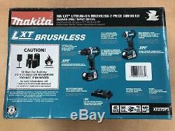 Makita 18V LXT LithiumIon Cordless Hammer Drill & Impact Driver Kit XT275PT