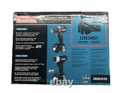 Makita 18V LXT Sub-Compact Brushless 2pc. Combo Kit Drill/Impact Driver CX203SYB
