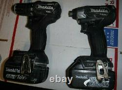 Makita 18V LXT Sub-Compact Brushless Set XFD11 Drill & XDT15 Impact + batteries