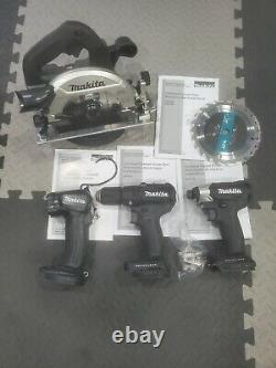 Makita 18V Sub Compact Brushless Hammer Drill Impact Circular Saw kit