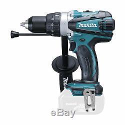 Makita 18v Dhp458 Dhp458z Combi Drill, Bl1840 Battery, Dc18rc Charger & Case