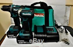 Makita 18v LXT Lithium-Ion Cordless Drill Impact Driver Power Tool Combo Kit Set