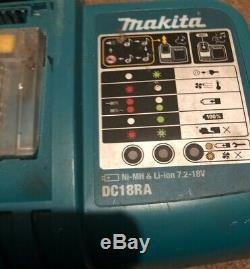 Makita 18v LXT kit Drill Impact Driver Grinder Hover Charger 6AH batteries 3Ah