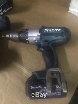 Makita 18v Lithium Combo Lot 2 Hammer Drills Impact Sds 3.0 Batteries Charger