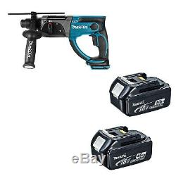 Makita 18v Lxt Dhr202 Dhr202z Dhr202rfe Hammer Drill And 2 Bl1840 Batteries