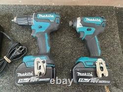 Makita 18v Lxt Xfd13 Brushless Drill + Xdt11 Impact Driver Li-ion Set + Charger