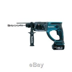 Makita 18v Sds Drill DHR202RM1J Cordless Drill 1 X 4ah Battery Charger + Case