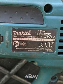 Makita 18v Sds Hammer Drill Dhr202 includes a 4.0ah battery & 4 top drill bits