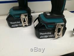 Makita 18v Twin Pack DHP458 Combi Drill + Impact Driver DTD152 3.0AH + DC18RC