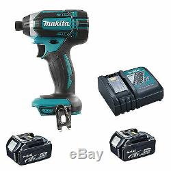 Makita 18v Xpt Dtd152 Dtd152z Impact Driver, 2 Bl1840 Batteries, Dc18rc Charger