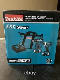 Makita 2-Tool 18V LXT Lithium-Ion Drill/Driver & Impact Driver Cordless Tool