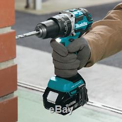Makita 2-pc Combo 18V Li-Ion Hammer Drill XPH12, Impact Driver XDT13 Kit, 4.0Ah