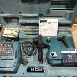 Makita 24V BHR 200 Cordless Rotary Hammer Drill 2 Batteries, Charger & Boxed