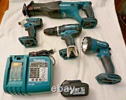 Makita 4pc 18V LXT Lithium ion Cordless Combo Kit, Hammer drill, Recip saw, More