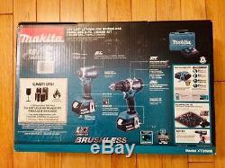 Makita Brushless 18V LXT Cordless 4.0 Ah Impact & Driver Drill Combo Kit XT269M