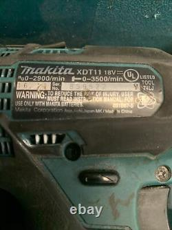 Makita Brushless XFD10 + XDT11 Kit 18-V Lithium-Ion Drill Impact Set with charger