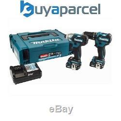 Makita CLX205AJ 10.8v 12v 2 Piece Kit Brushless Combi Drill + Impact Driver