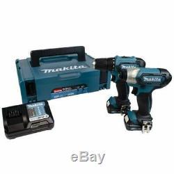 Makita CLX224AJ 10.8v Twin Pack DP333D Drill Driver & TD110D Impact Driver