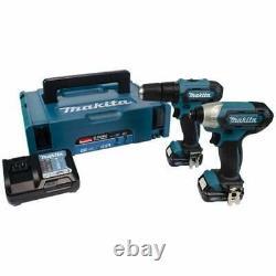 Makita CLX228AJ 10.8v 2 Piece Kit HP333D Combi Drill & TD110D Impact Driver