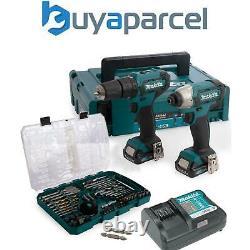 Makita CLX228AJ 12v Cordless Combi Hammer Drill & Impact Driver + 75 Accessories