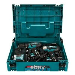 Makita CLX228AJ Cordless 10.8/12V MAX CXT Slide Combi Drill & Impact Driver Set