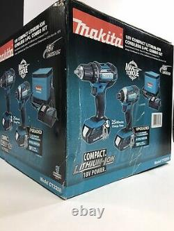 Makita CT225R-R 18V LXT Lithium-Ion Compact Cordless 2pc Combo Kit Driver Drill