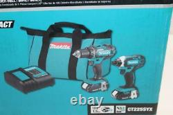 Makita CT225SYX 18V LXT Lithium-Ion Compact 2-Piece Combo Kit Drill/Impact Driv