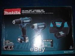 Makita CT226 12V Max Lithium-Ion Cordless Combo Kit Drill Impact Driver NEW