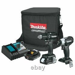 Makita CX200RB 18-Volt 2.0Ah 2-Tool LXT Brushless Drill/Driver Combo Kit