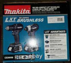 Makita CX200RB 18V LXT Brushless Drill/Driver & Impact Driver Combo Kit NEW