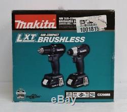 Makita CX200RB 18V LXT Brushless Sub-Compact Drill / Impact Driver Combo Kit