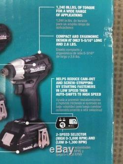 Makita CX200RB 18V XLT Sub Compact Brushless Cordless Drill Impact Driver Kit
