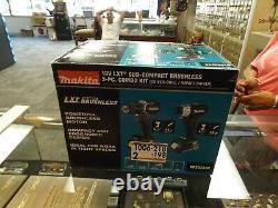 Makita CX203SY 18V LXT Sub-Compact Brushless 2pc. Combo Kit Drill/Impact Driver