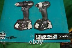 Makita CX203SYB 18V LXT Sub Compact Brushless 2PC Combo Drill Impact Kit NEW