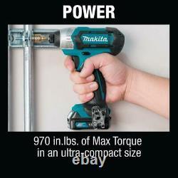 Makita CXT 12V Max Li-Ion 1/4 Impact Driver & 3/8 Drill Driver CT226 Bundle