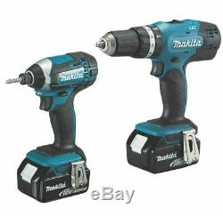 Makita Combi Drill & Impact Driver Twin Pack Cordless DLX2142SM 18V 2 x 4.0Ah