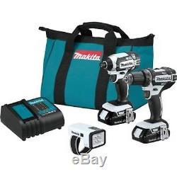 Makita Combo 3 Piece Drill Impact Driver Flashlight 18 Volt Cordless Compact Set