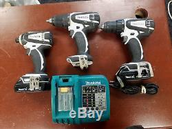 Makita Combo Kit 2 Drills 1 Impact Lxfd01 Lxdt04 2 Batt. Charger 96203-1 Eb