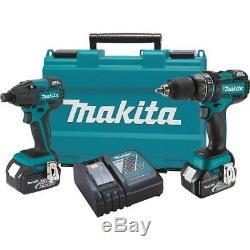 Makita Combo Kit XT248 18V LXT Cordless Brushless Impact & Hammer Drill Kit