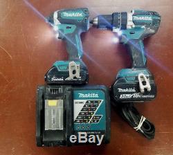 Makita Cordless Brushless Combo Kit Hammer Drill Xph12 Impact Xdt13 98363-1 Eb