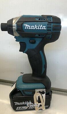 Makita Cordless Combi Drill Impact Driver Twin Pack 18v -2x5.0ah Batteries